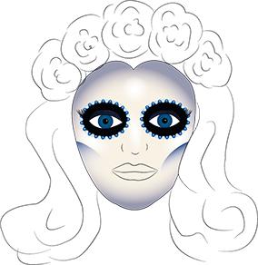 Halloween Makeup Sugar Skull Tutorial - Step 8 by feedingmyvintageaddiction.wordpress.com