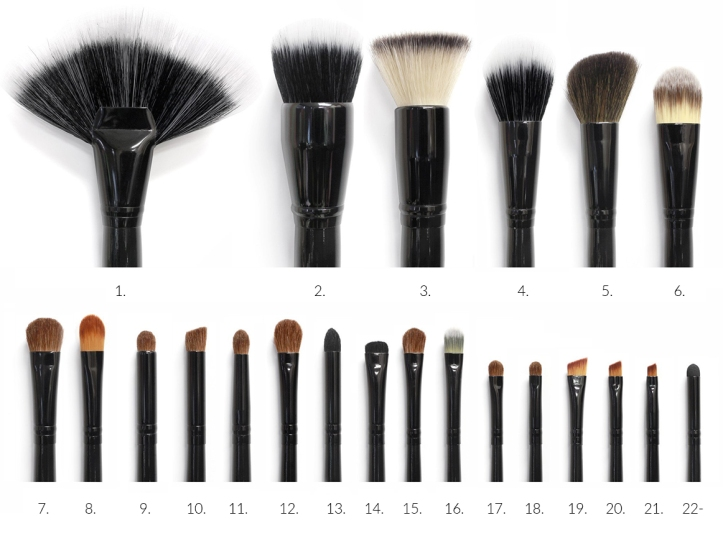 22 brushes