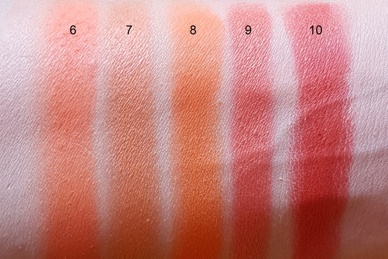 orange swatches