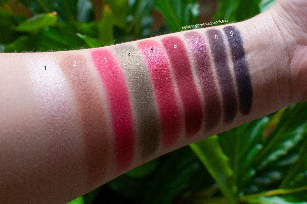 Fantasy Cherry Palette of eyeshadows inspired by cherries